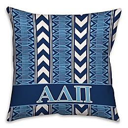 Alpha Delta Pi Greek Sorority 16-Inch Throw Pillow in Blue