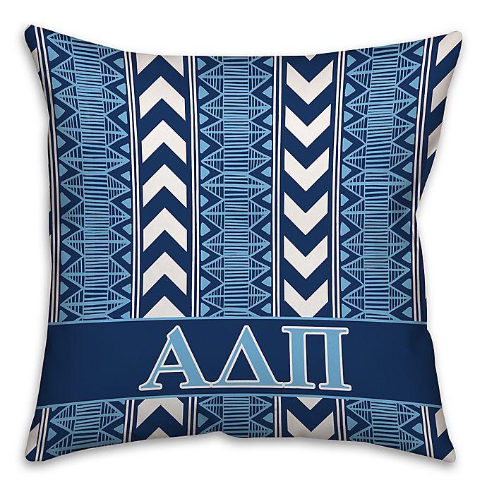 Alternate image 1 for Alpha Delta Pi Greek Sorority 16-Inch Throw Pillow in Blue