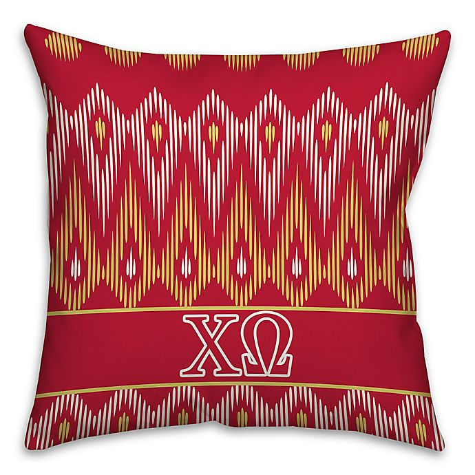 Alternate image 1 for Chi Omega Greek Sorority 16-Inch Throw Pillow in Red