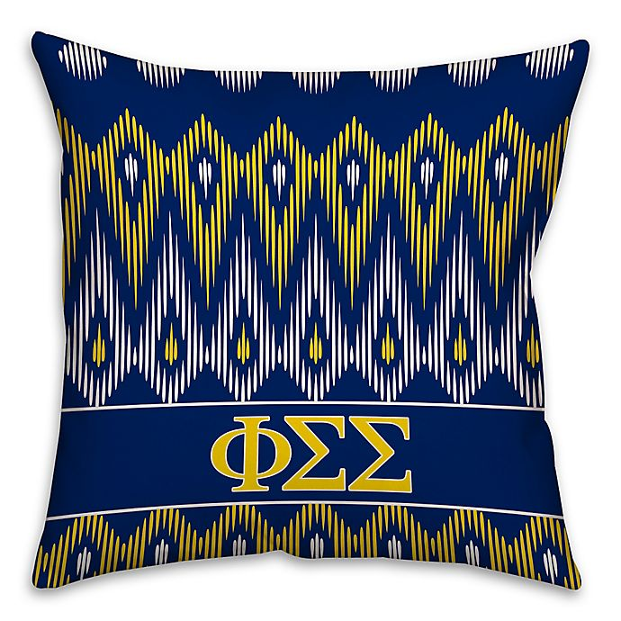 Alternate image 1 for Phi Sigma Sigma Greek Sorority 16-Inch Throw Pillow in Blue