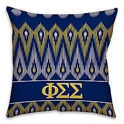 Phi Sigma Sigma Greek Sorority 16-Inch Throw Pillow in Blue