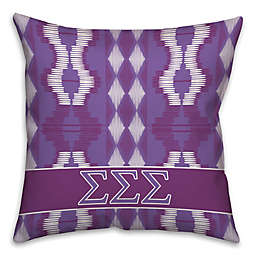 Sigma Sigma Sigma Greek Sorority 16-Inch Throw Pillow in Purple