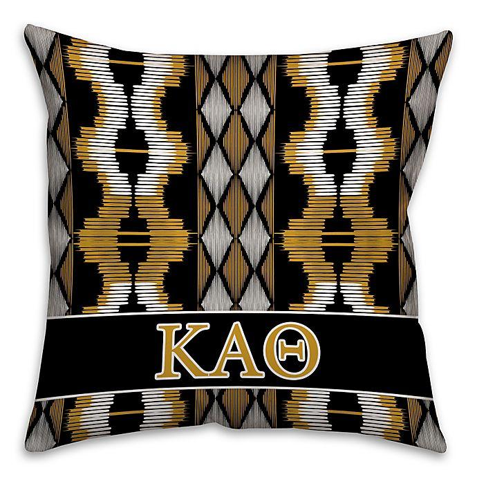 Alternate image 1 for Kappa Alpha Theta Greek Sorority 16-Inch Throw Pillow in Black