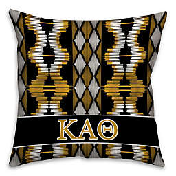 Kappa Alpha Theta Greek Sorority 16-Inch Throw Pillow in Black