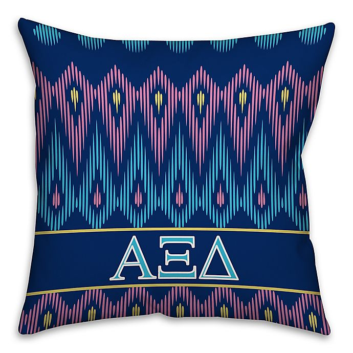 Alternate image 1 for Alpha Xi Delta Greek Sorority 16-Inch Throw Pillow in Blue