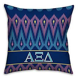 Alpha Xi Delta Greek Sorority 16-Inch Throw Pillow in Blue