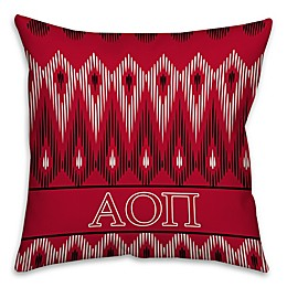 Alpha Omicron Pi Greek Sorority 16-Inch Throw Pillow in Red