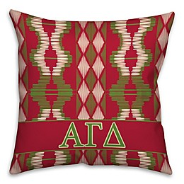 Alpha Gamma Delta Greek Sorority 16-Inch Throw Pillow in Red