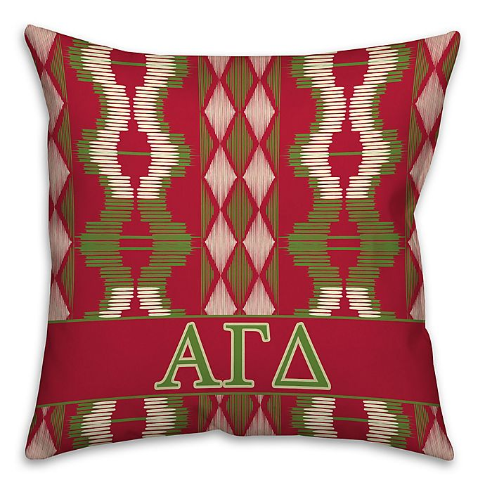 Alternate image 1 for Alpha Gamma Delta Greek Sorority 16-Inch Throw Pillow in Red
