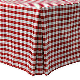 Gingham Poly Check Indoor/Outdoor Fitted Tablecloth