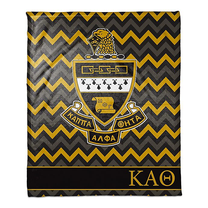 Alternate image 1 for Kappa Alpha Theta Greek Sorority Throw Blanket in Black