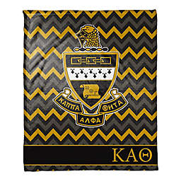 Kappa Alpha Theta Greek Sorority 50- x 60-inch Throw Blanket in Black