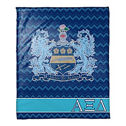 Alpha Xi Delta Greek Sorority Throw Blanket in Blue