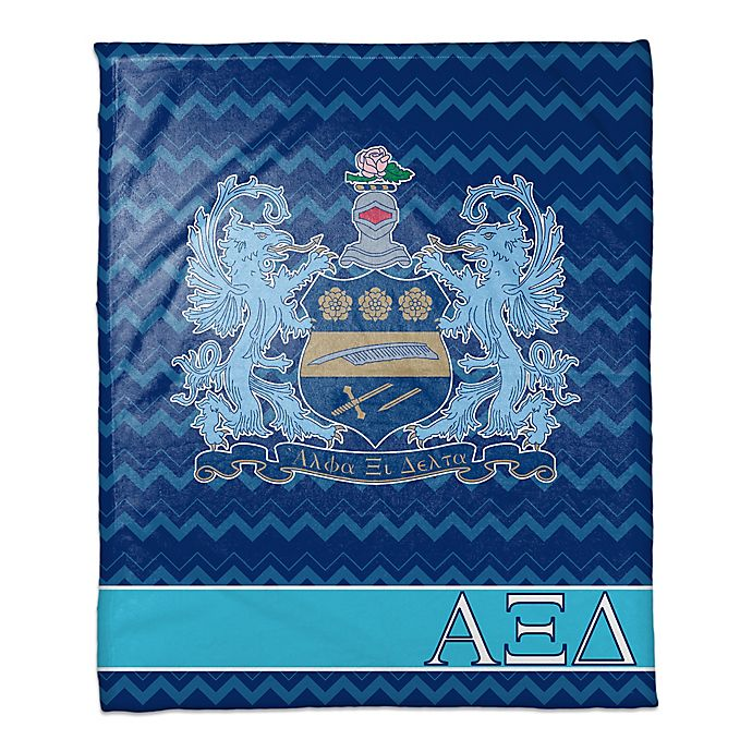 Alternate image 1 for Alpha Xi Delta Greek Sorority Throw Blanket in Blue