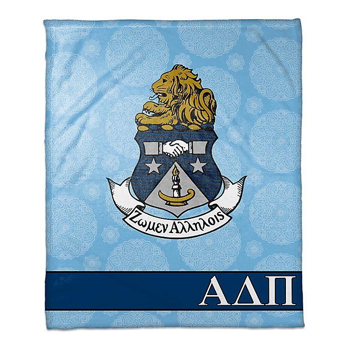 Alternate image 1 for Alpha Delta Pi Greek Sorority Throw Blanket in Blue