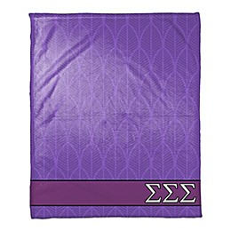 Sigma Sigma Sigma Greek Sorority Throw Blanket in Purple