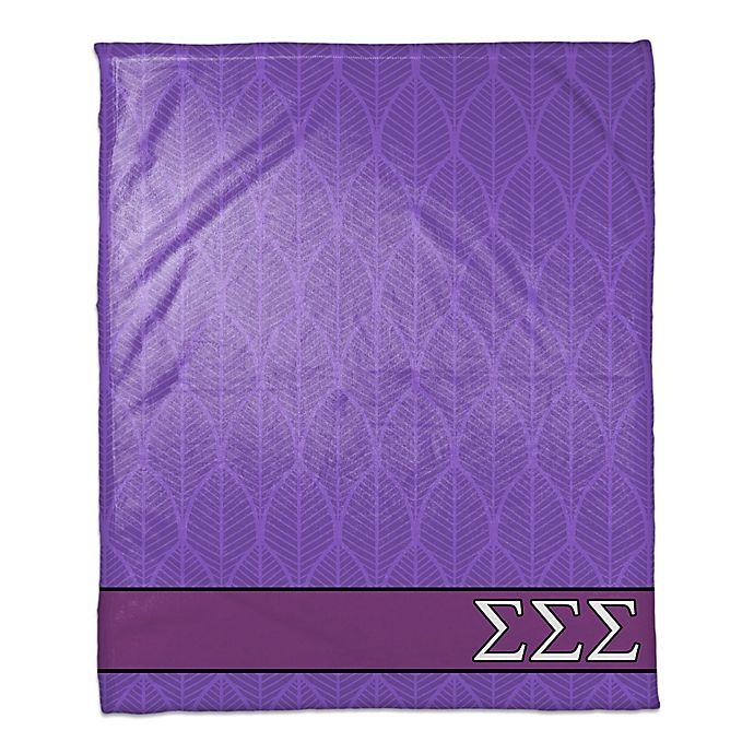 Alternate image 1 for Sigma Sigma Sigma Greek Sorority Throw Blanket in Purple