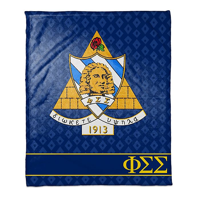Alternate image 1 for Phi Sigma Sigma Greek Sorority Throw Blanket in Blue