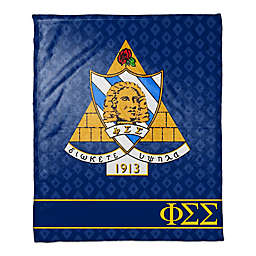 Phi Sigma Sigma Greek Sorority Throw Blanket in Blue