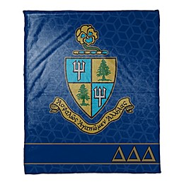Delta Delta Delta Greek Sorority Throw Blanket in Blue