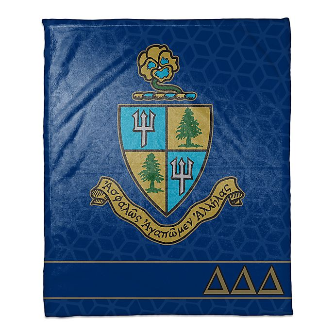 Alternate image 1 for Delta Delta Delta Greek Sorority Throw Blanket in Blue