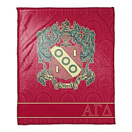Alpha Gamma Delta Greek Sorority Throw Blanket in Magenta