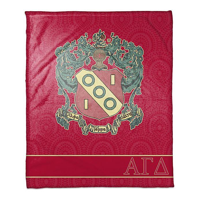 Alternate image 1 for Alpha Gamma Delta Greek Sorority Throw Blanket in Magenta