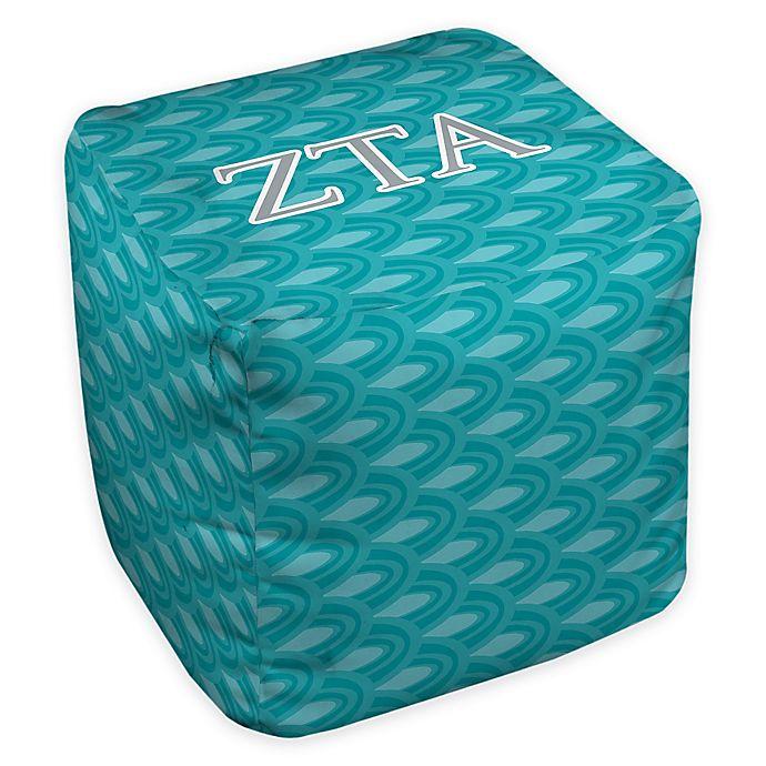 Alternate image 1 for Zeta Tau Alpha Greek Ottoman