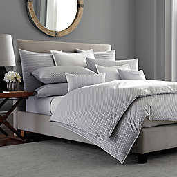 Barbara Barry® Ascot Duvet Cover in Smoke