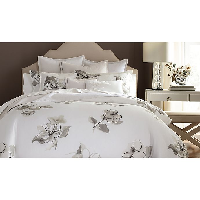 Barbara Barry Melody Duvet Cover In Platinum Bed Bath
