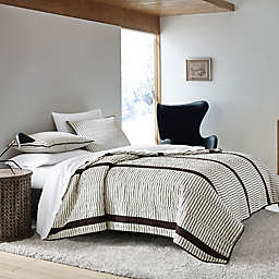 ED Ellen DeGeneres Dots and Dashes Quilt in Beige