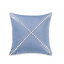 Barbara Barry Soft Stitch Pearl Square Throw Pillow in Ocean