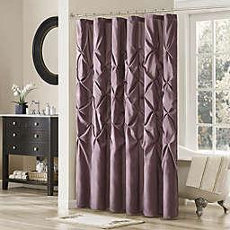 Madison Park Laurel 72-Inch x 72-Inch Shower Curtain in Plum