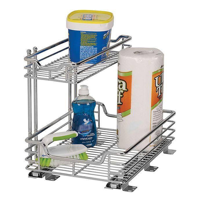 Household Essentials 2 Tier 125 Inch Glidez Sliding Under Sink