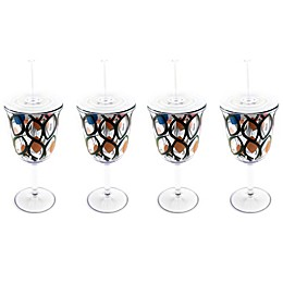 BergHOFF® Acrylic Wine Glasses with Circle Pattern (Set of 4)