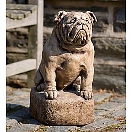 Campania Petey Garden Statue in Brownstone