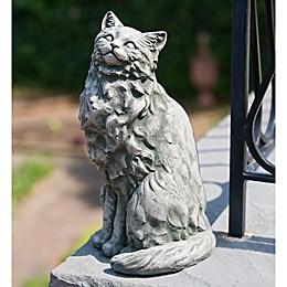 Campania Tanner the Cat Garden Statue in Alpine Stone