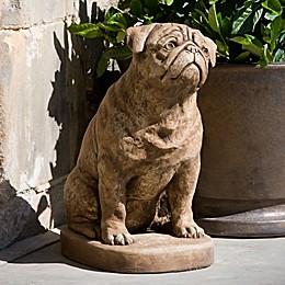 Campania Mugsy Garden Statue in Brownstone