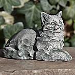 Campania Cleo Cat Garden Statue in Alpine Stone