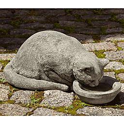 Campania Samantha the Cat Garden Statue in Alpine Stone