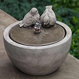 Campania M-Series Bird Fountain in Alpine Stone