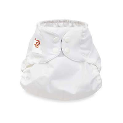 Flip™ One-Size Snap Cloth Diaper Cover in White