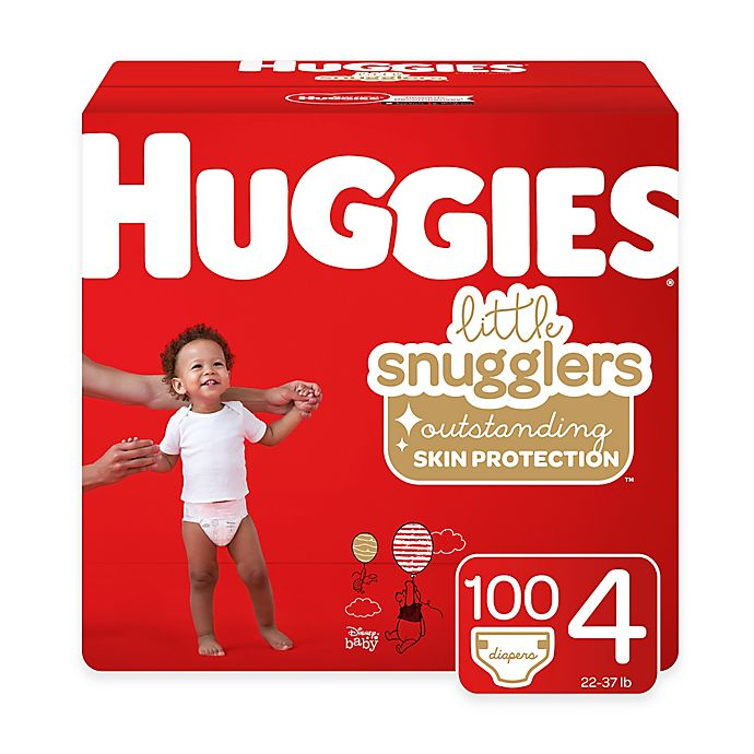 Alternate image 1 for Huggies® Little Snugglers 100-Pack Size 4 Mega Colossal Diapers