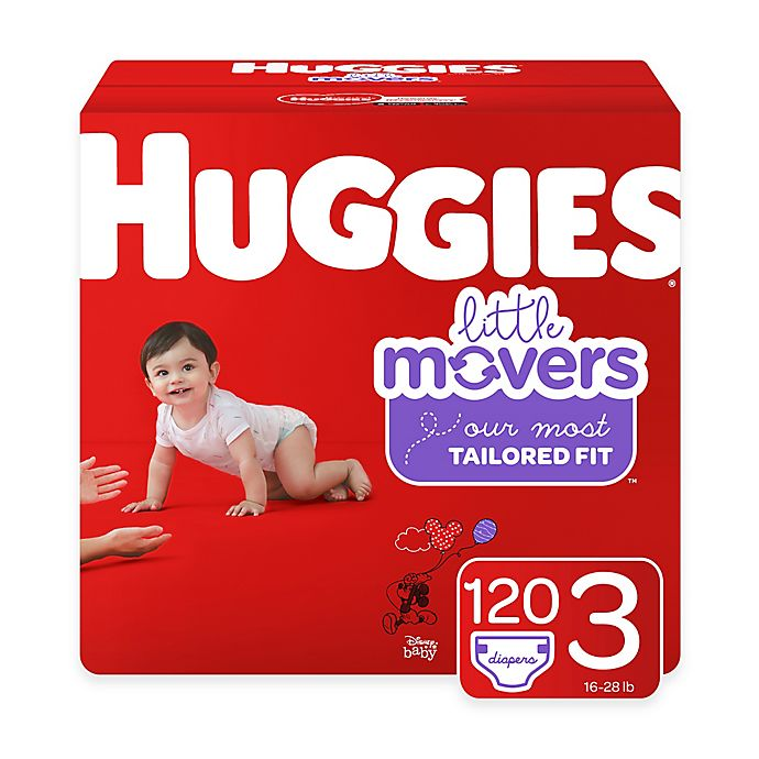 Alternate image 1 for Huggies® Little Movers 120-Pack Size 3 Mega Colossal Diapers