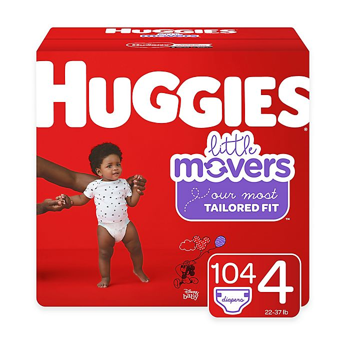 Alternate image 1 for Huggies® Little Movers 104-Pack Size 4 Mega Colossal Diapers