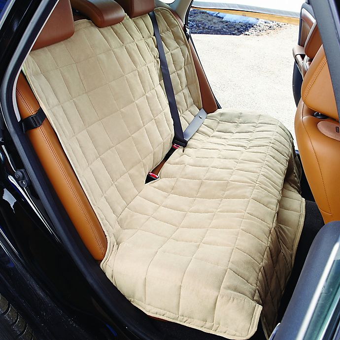 Alternate image 1 for Sure Fit® Waterproof Soft Suede Bench Seat Cover