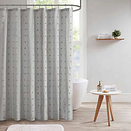 Urban Habitat Brooklyn Jacquard Shower Curtain in Grey
