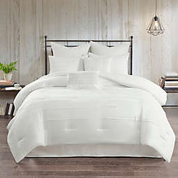 5DS Jenda 8 Piece Comforter Set Queen White