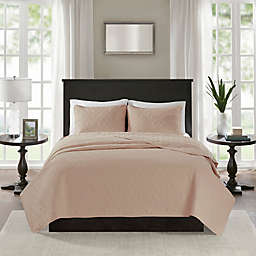 Madison Park Quebec 2-Piece Reversible Twin/Twin XL Coverlet Set in Blush