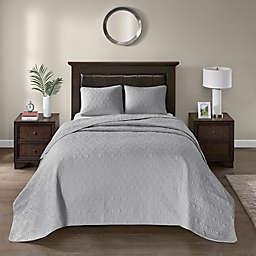 Madison Park Quebec 3-Piece Reversible Full Bedspread Set in Grey